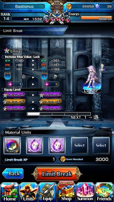 hero and gear upgrade grand summoners