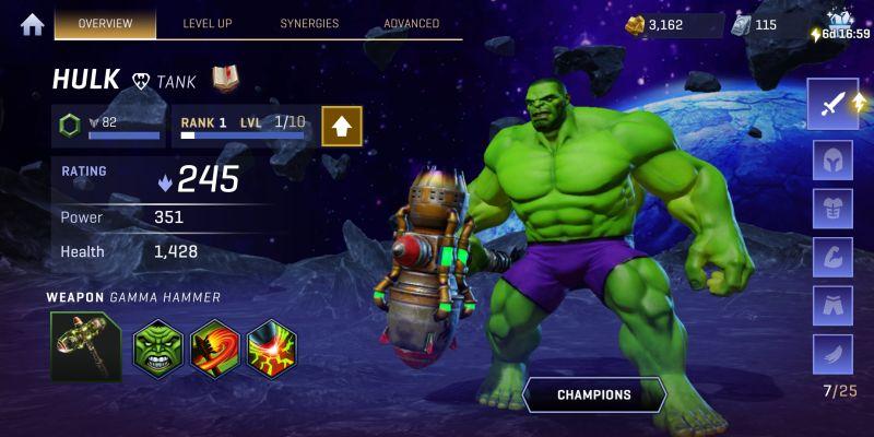 hulk marvel realm of champions
