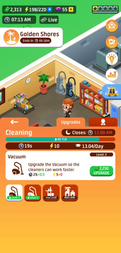 idle restaurant tycoon cleaners