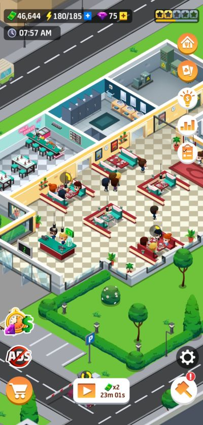 idle restaurant tycoon culinary