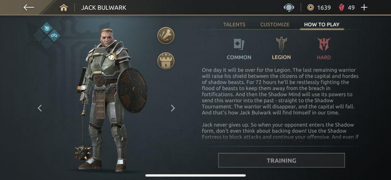 jack bulwark shadow fight arena