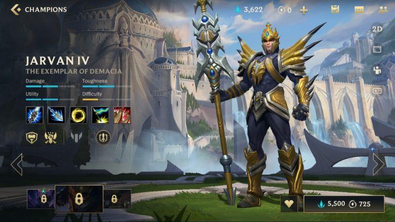 jarvan iv league of legends wild rift