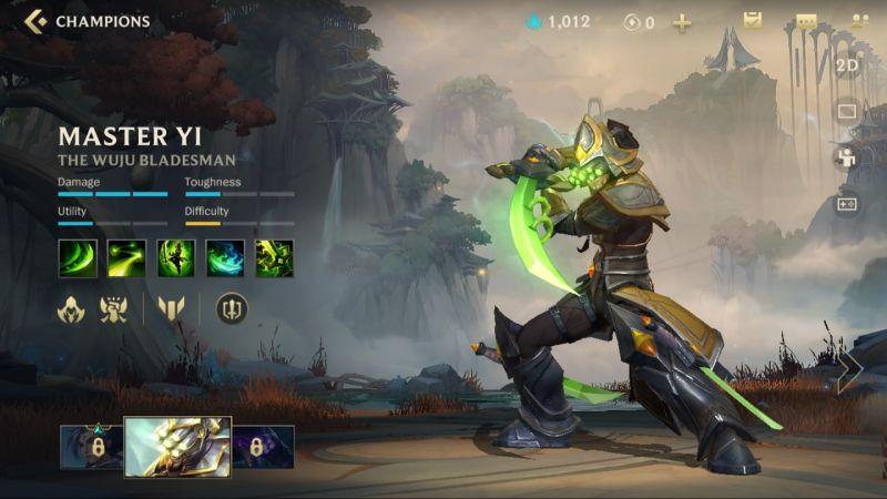 master yi league of legends wild rift