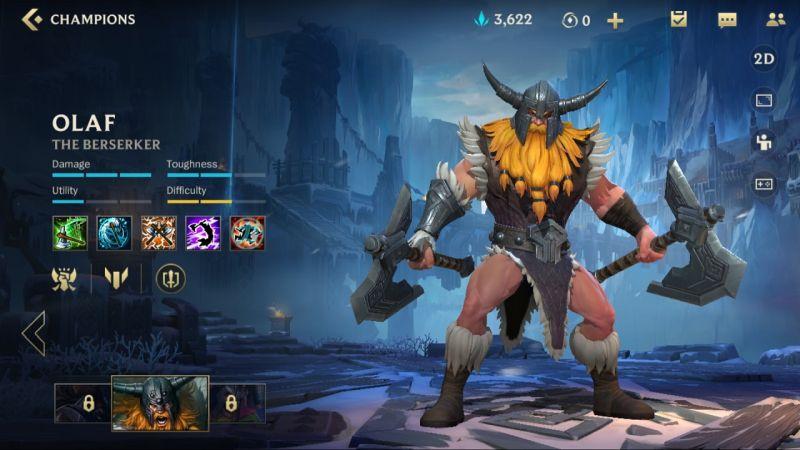 olaf league of legends wild rift