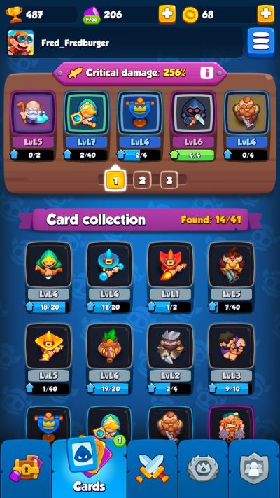 rush royale card collection