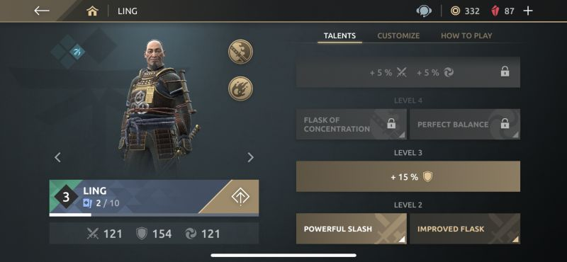 shadow fight arena hero talents