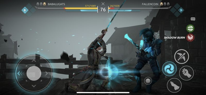 shadow burn in shadow fight arena