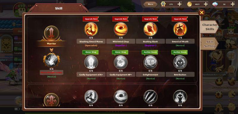 rainbow story skill upgrades