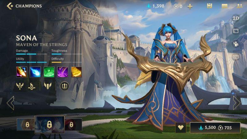 sona league of legends wild rift