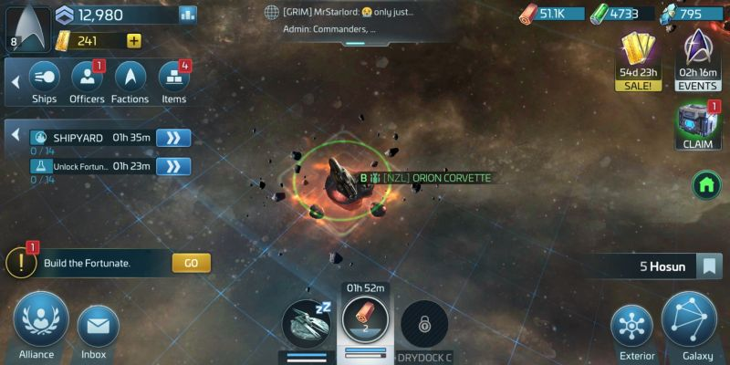 how to build a strong base in star trek fleet command