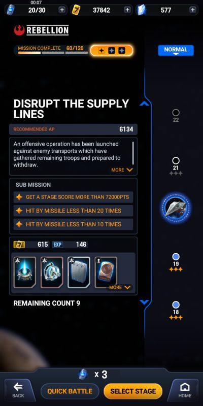 distrupting supply lines in star wars starfighter missions