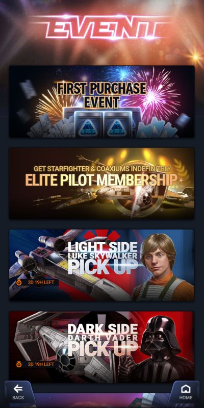 star wars starfighter missions events