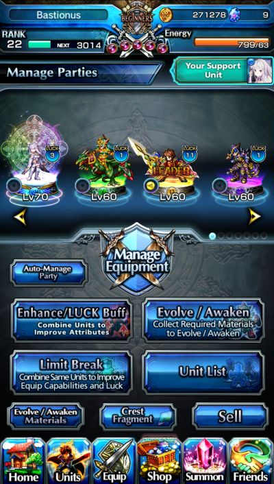 team lineup grand summoners