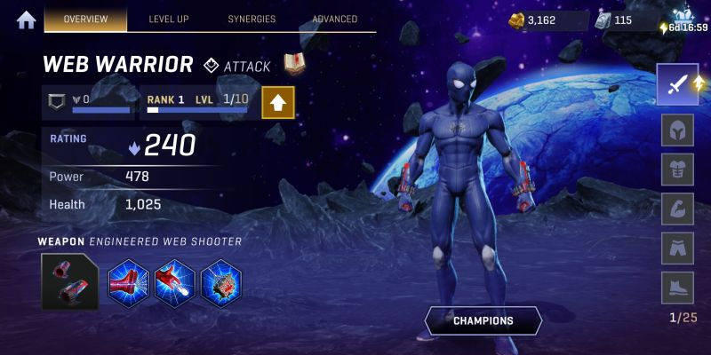 web warrior realm of champions