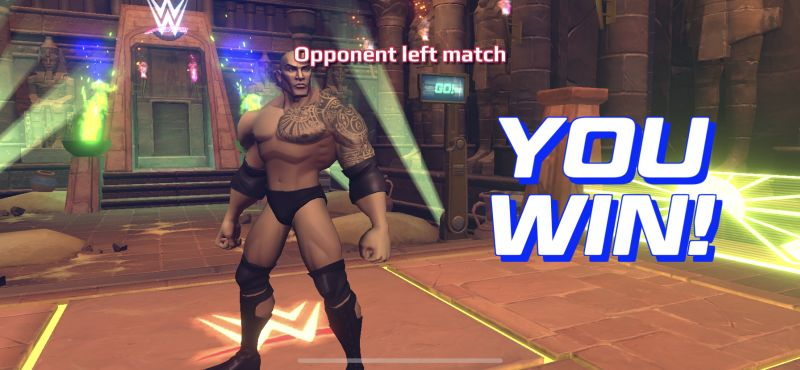 winning match in wwe undefeated