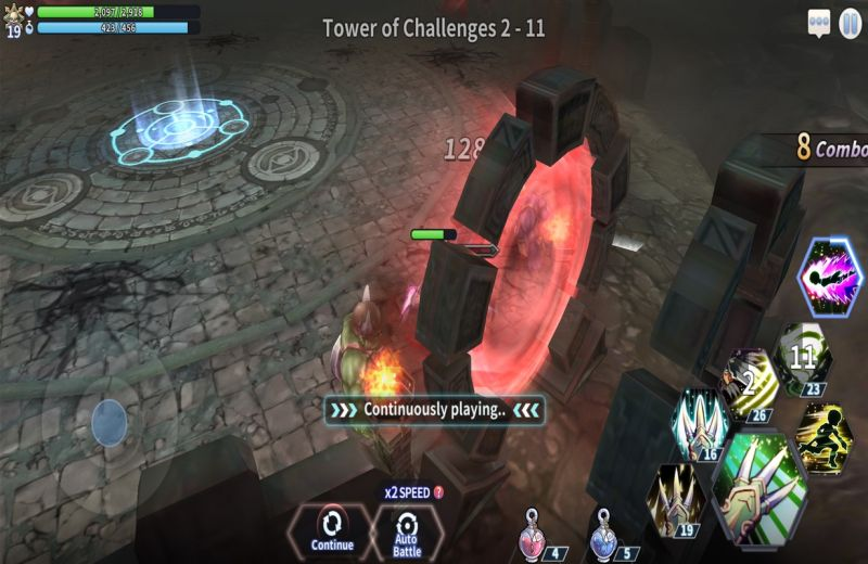 action ro2 spear of odin tower challenges