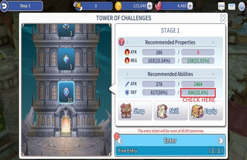 action ro2 spear of odin tower of challenges setup