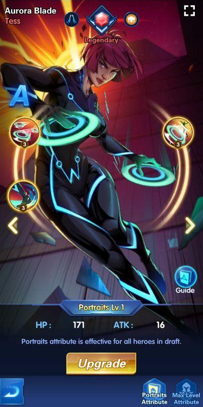 aurora blade tess x-hero idle avengers