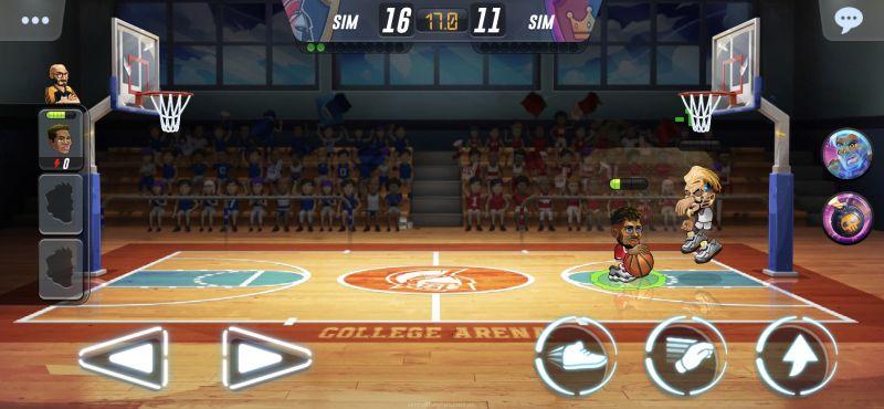 basketball arena dash button