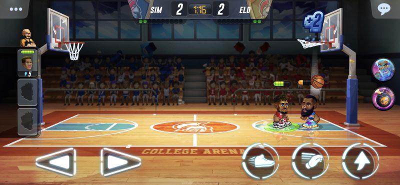 basketball arena energy level
