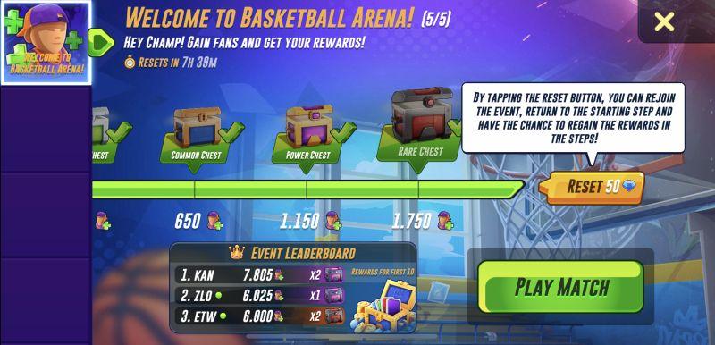 basketball arena event