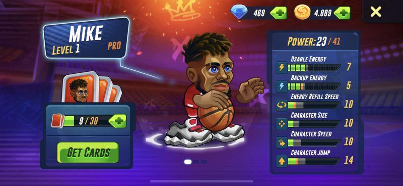 basketball arena player stats