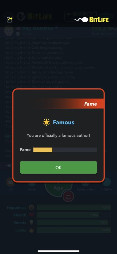 becoming a famous author in bitlife