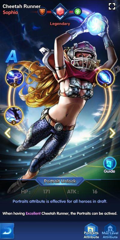 cheetah runner sophia x-hero idle avengers