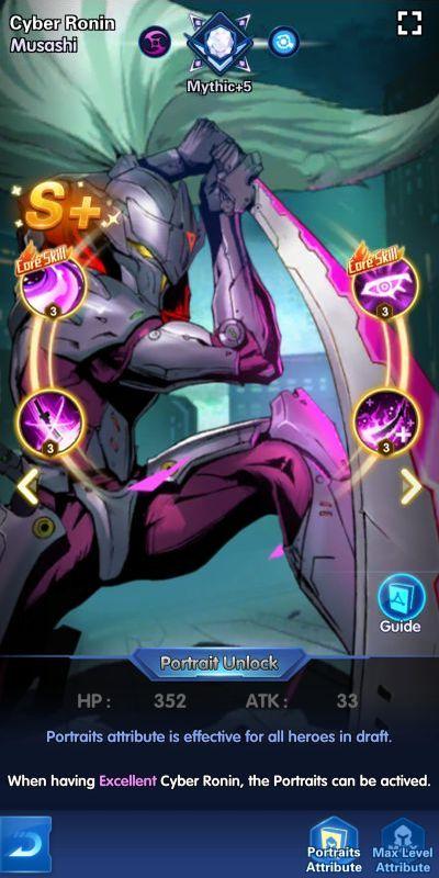 cyber ronin musashi x-hero idle avengers