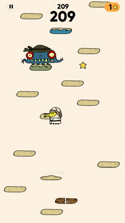 shooting monsters in doodle jump 2