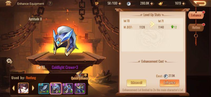enhancing equipment dynasty scrolls