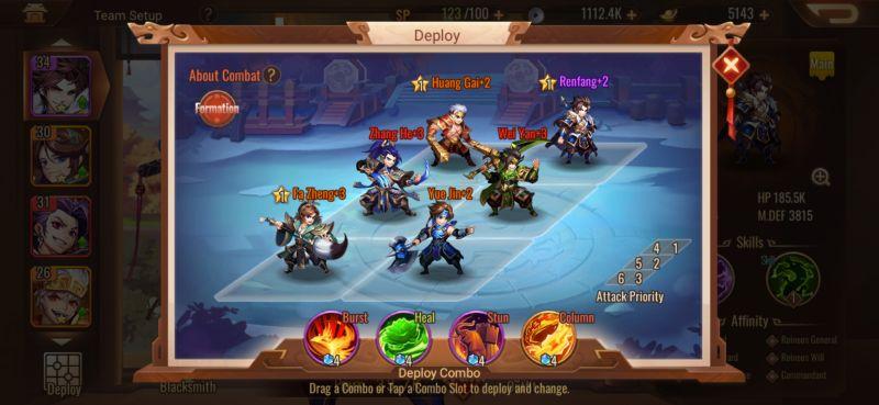 team formation dynasty scrolls