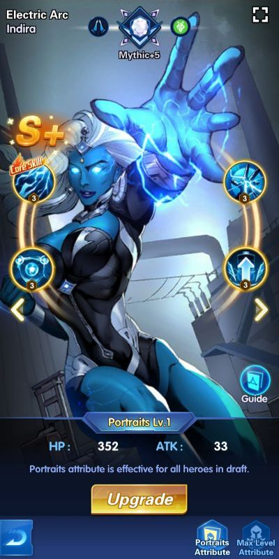 electric arc indira x-hero idle avengers