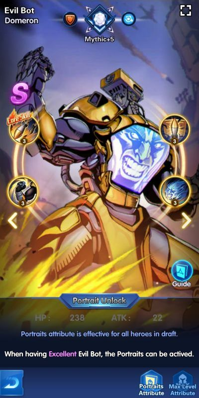 evil bot domeron x-hero idle avengers
