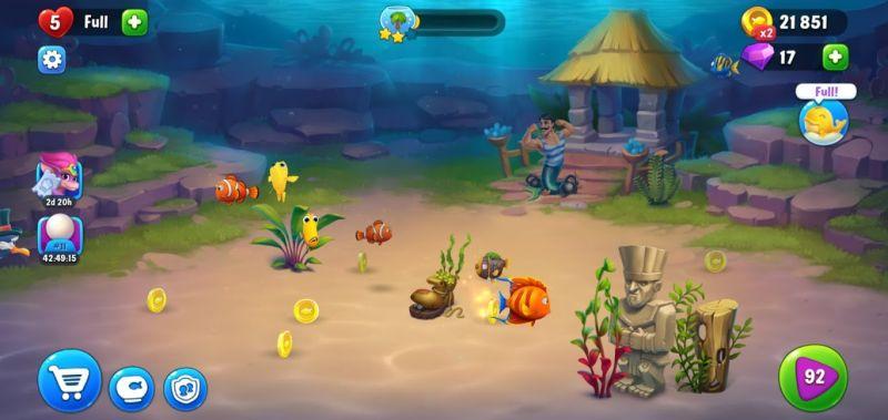 gold coins fishdom
