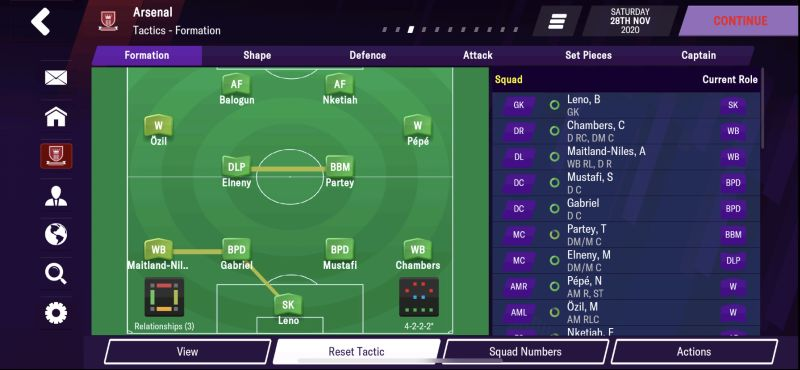 4-2-4 attacking formation football manager 2021 mobile
