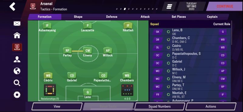4-3-3 wide formation football manager 2021 mobile
