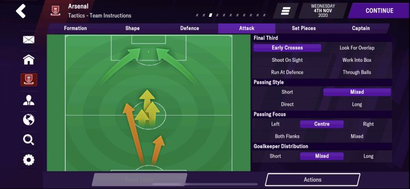 attacking tactics and team instructions football manager 2021 mobile