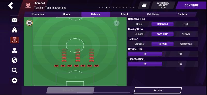 defensive tactics football manager 2021 mobile