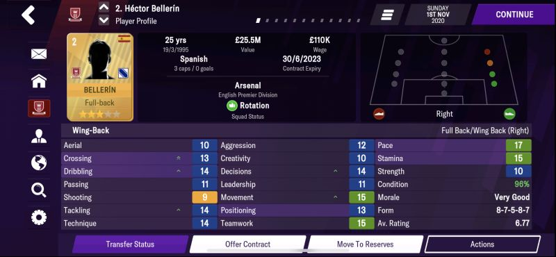 player profile football manager 2021 mobile