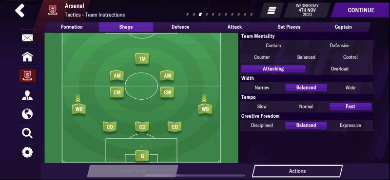 shape football manager 2021 mobile