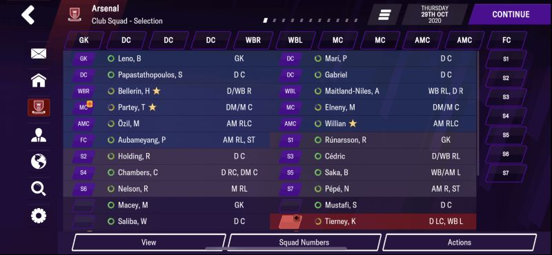 football manager 2021 mobile squad