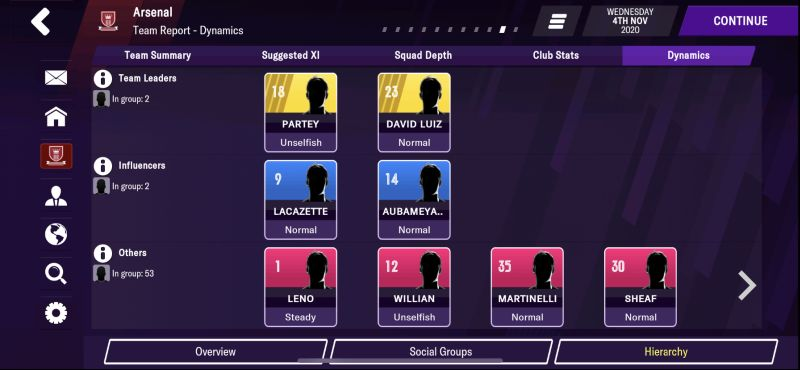 team dynamics football manager 2021 mobile