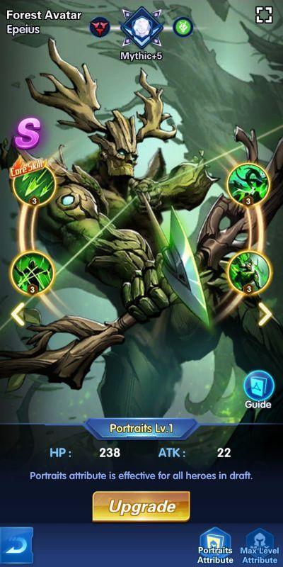 forest avatar epeius x-hero idle avengers