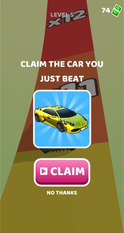 gear race 3d claiming a car