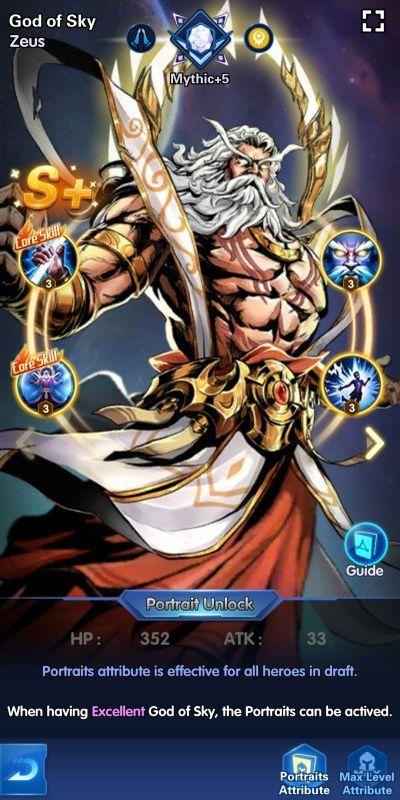 god of sky zeus x-hero idle avengers