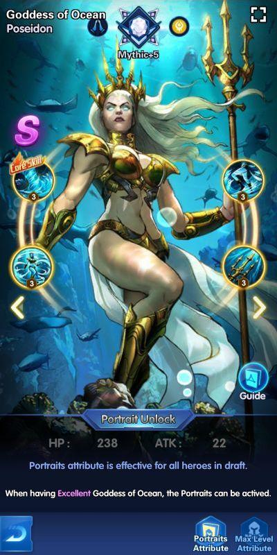 goddess of ocean poseidon x-hero idle avengers