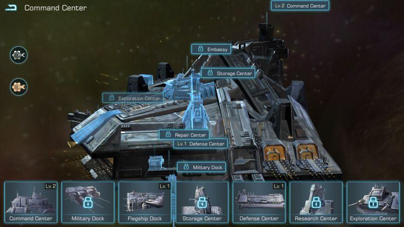 infinite galaxy command center