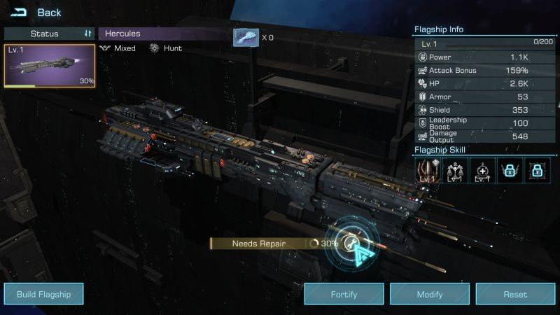 infinite galaxy flagship dock