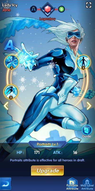 lady icy jane x-hero idle avengers